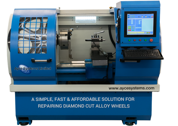 Ayce Systems Touchscreen Diamond Cutting CNC Alloy Wheel Lathe
