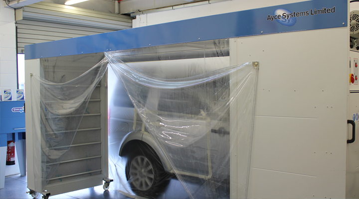 Ayce Systems' mobile spray booth