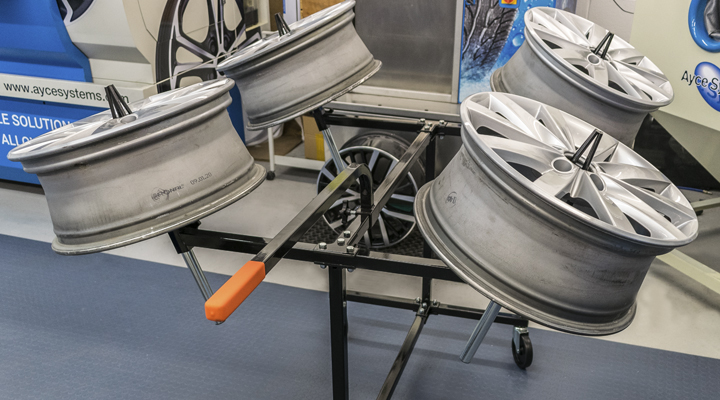 Ayce Systems' launch new alloy wheel preparation station