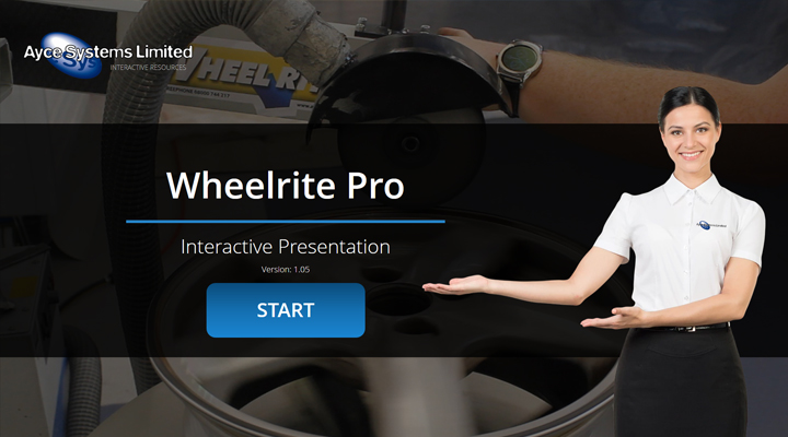 Interact with the wheelrite pro interactive presentation