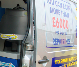 Smart Repair and Alloy Wheel Repair Mobile Van Installations from Ayce Systems