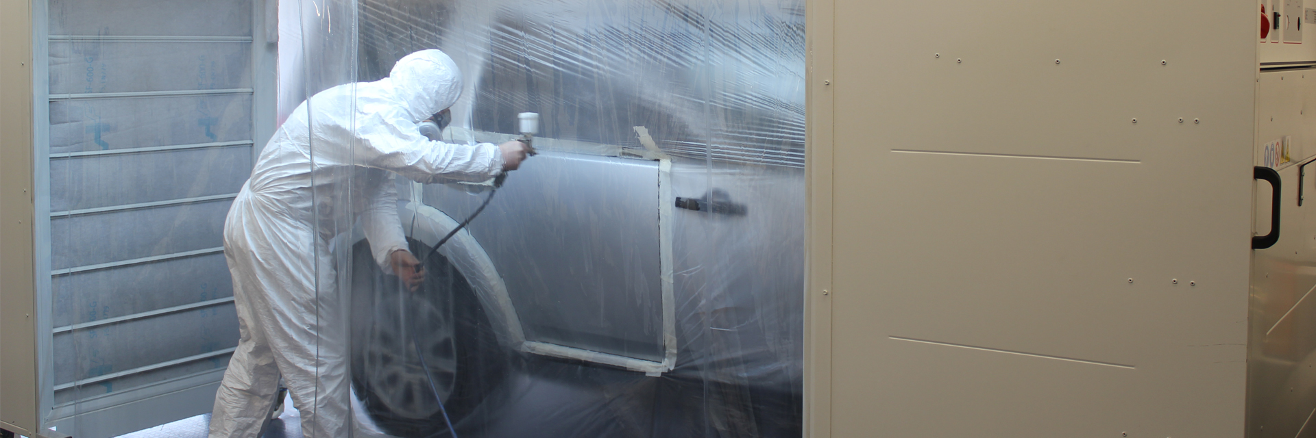 Ayce Systems Mobile Spray Paint Booth In Use
