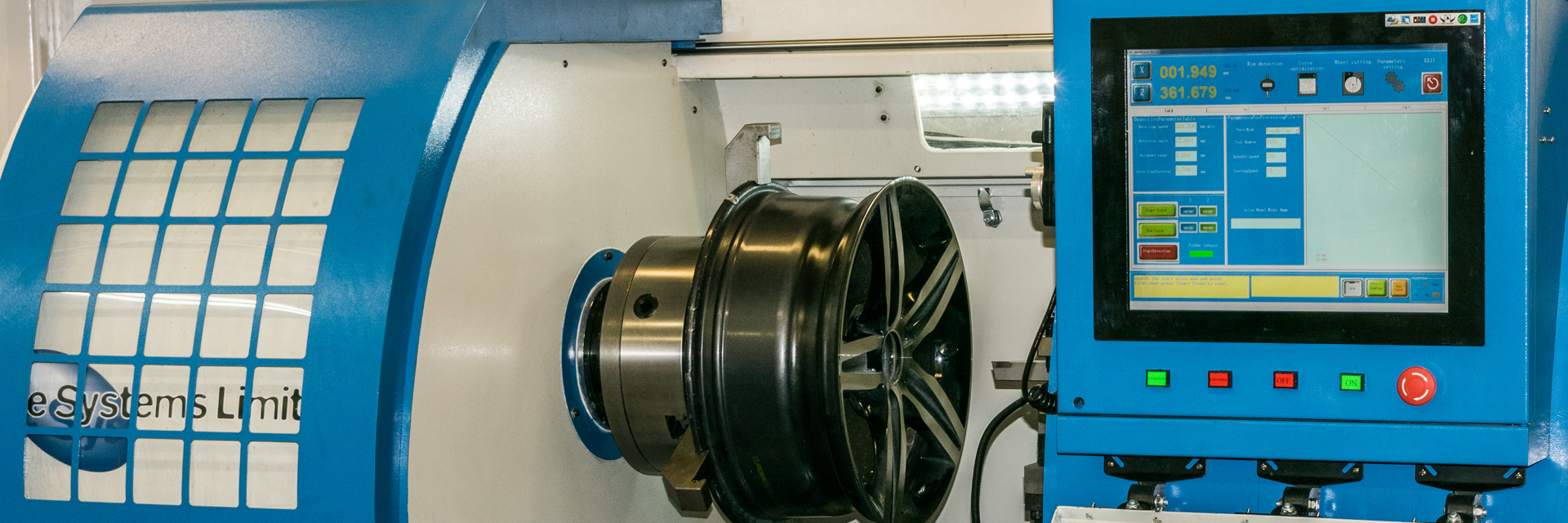 Ayce Systems' Diamond Cutting Alloy Wheel CNC Lathe